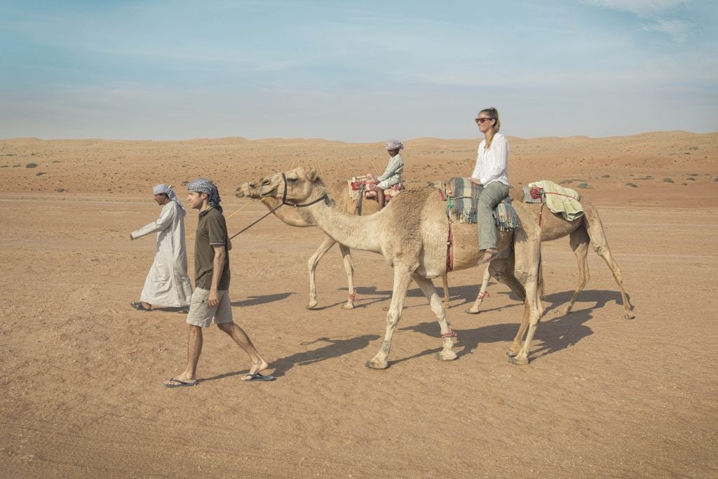 Camel Riding in thedesert