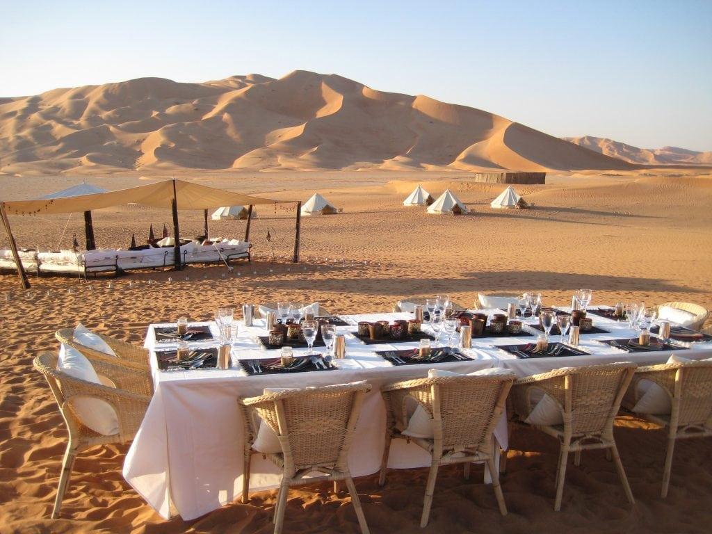 Dining Setup in Empty Quarter Rub Al Khali Al Wusta Oman