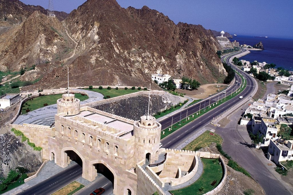 Muscat Aerial view of Muscat Muscat Gate Museum Muscat Oman