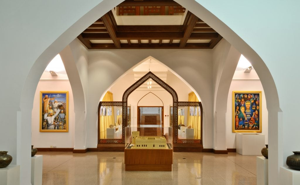 Museums Interior view of the Bait Al Zubair museum Muscat Oman 5
