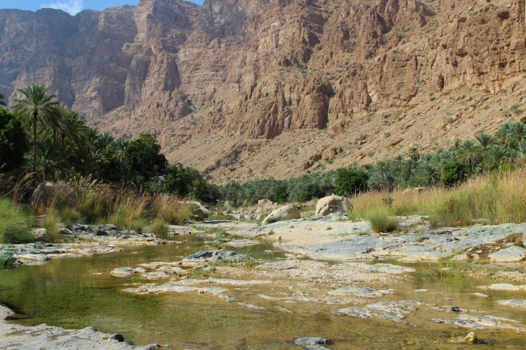 a beautiful landscape of Wadi Tiwi